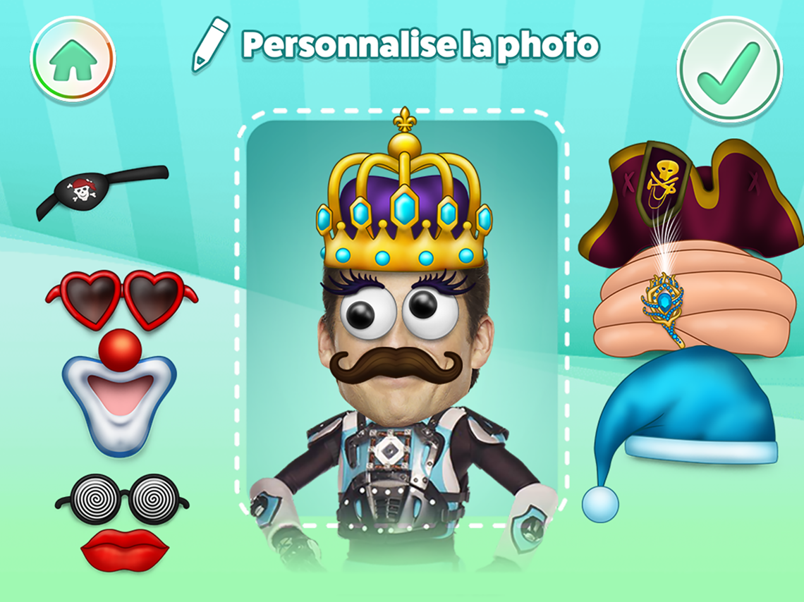 Personaliser le personnage